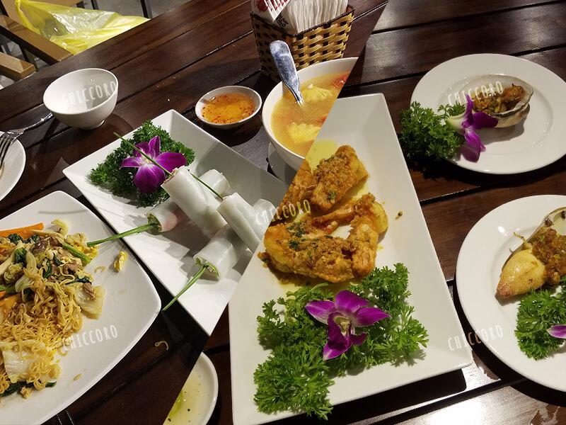 ミーケビーチ沿いのシーフードレストラン Hai San Phoでおいしかった料理