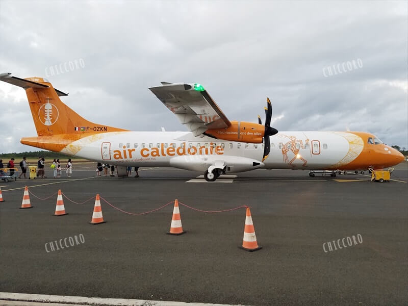 イルデパンからヌメア(マジェンタ空港)への飛行機エアカレドニア(air caledonie)