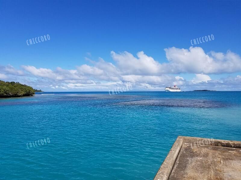 Betico2がイルデパンに到着。綺麗な青い海。