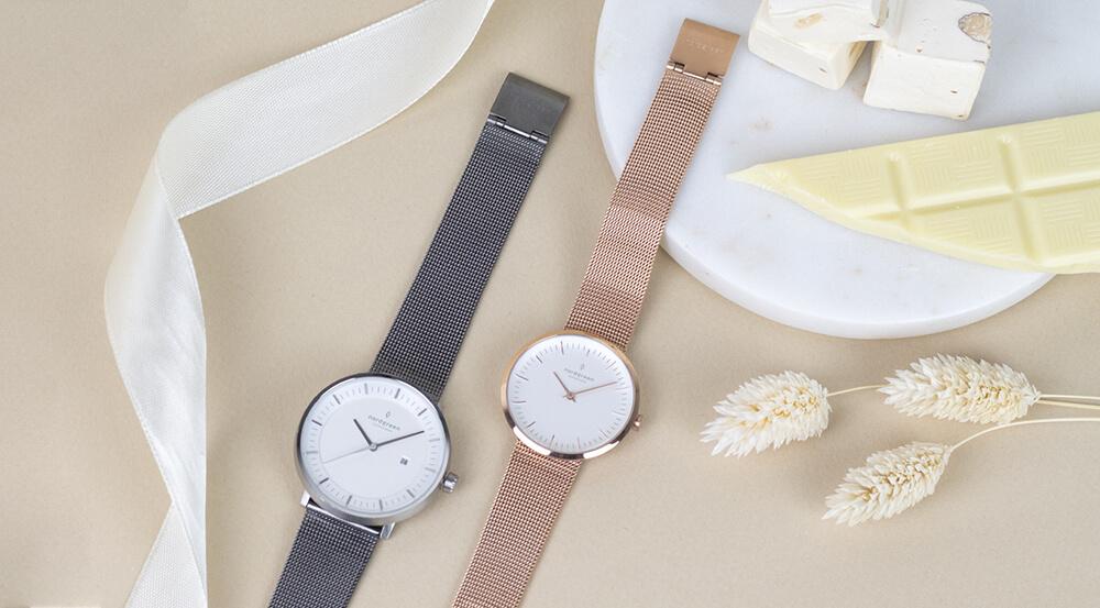 Nordgreenの腕時計メンズ:Pioneer シルバー、レディース:Infinity ローズゴールド