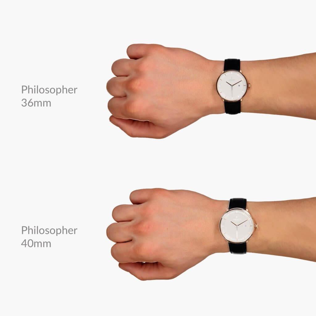 Philosopherフィロソファーのサイズ目安36mm、40mm